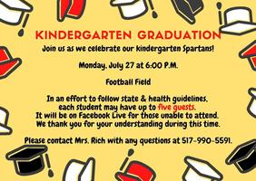 UPDATE - Kindergarten Graduation